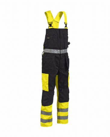 Blaklader 2603 Bib Overalls High Vis (Yellow/Black)